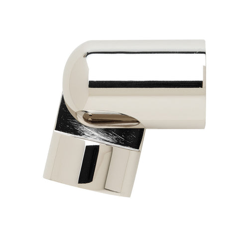 "1-3/16"" Hinged Elbow Polished Nickel (Brass)"