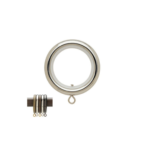 "1-3/16"" Rnd. Ring w/ Liner Polished Nickel (Brass)"