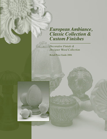 European Ambiance & Classic Collection Price List