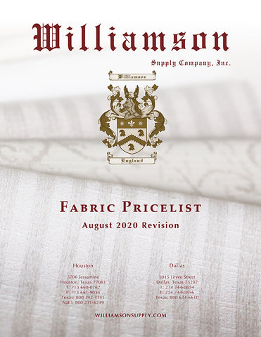 Williamson Supply Fabric Price List 2019