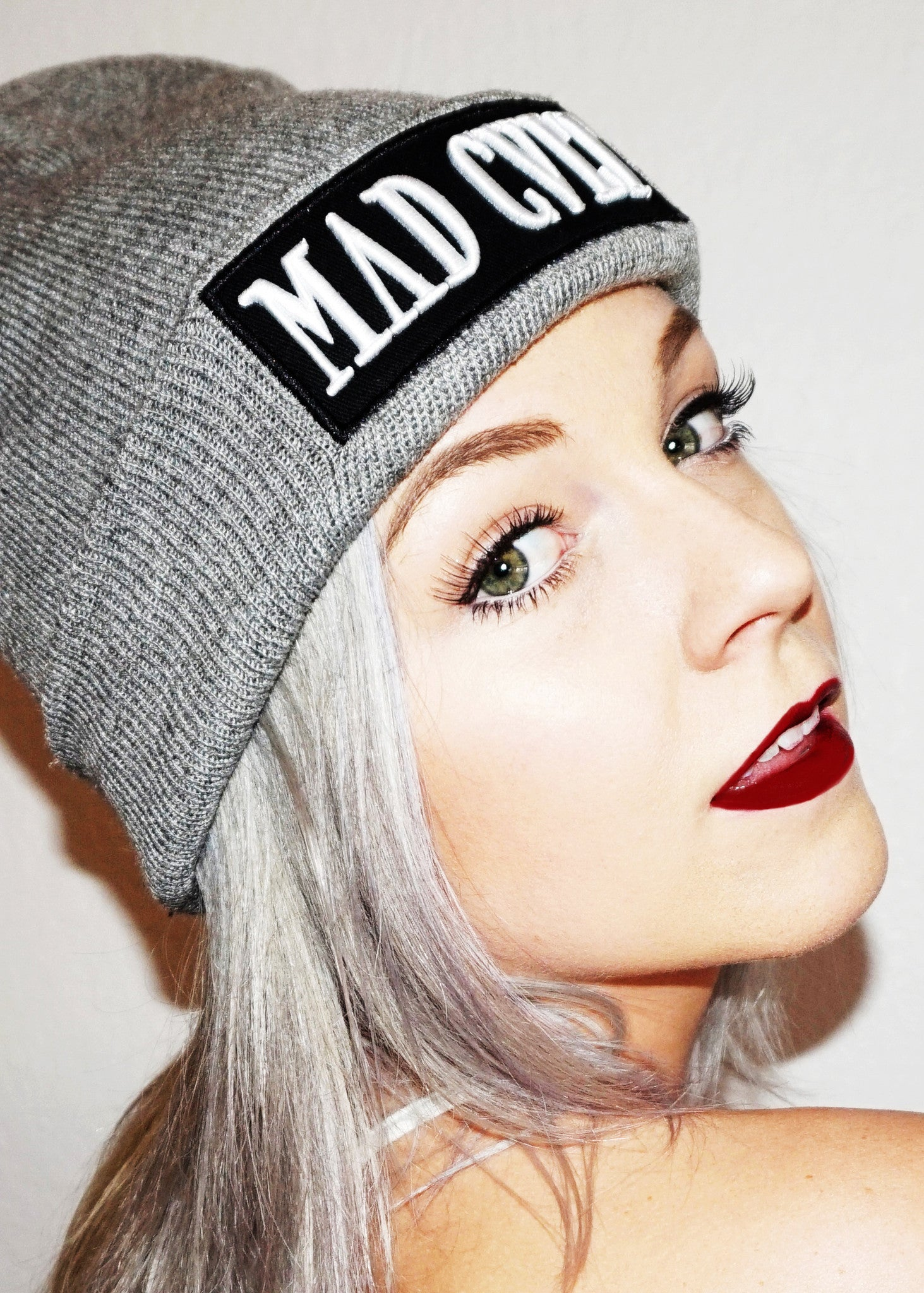 Grey Mad Cult Logo Beanie (SOLD OUT )