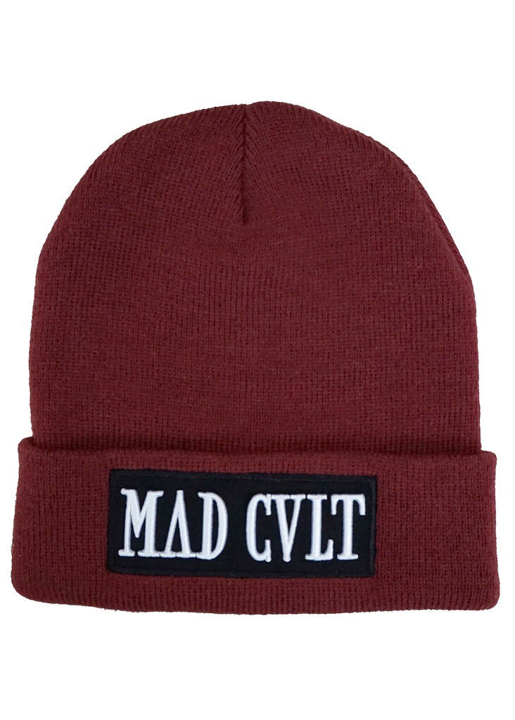Maroon Mad Cult Logo Beanie (SOLD OUT)