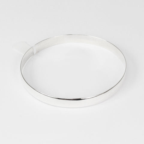 Round Solid Bangle SS