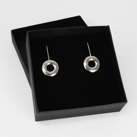 Sterling Silver Drop Small O Earings