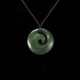 Medium Koru Green Stone New Zealand