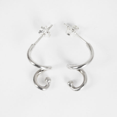 ZEE Silver Spiral Earrings