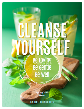 Cleanse Yourself SPRING MENU 2015