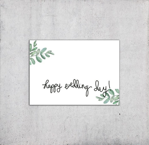 Happy Wedding Day Congratulations Card