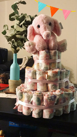 It's a Girl! - Diaper Cake - Baby Showers