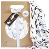 BURROW & BE | COLLAB LOVE PRINT, BLACK MUSLIN WRAP