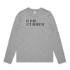 B&CO. | BE KIND ITS GANGSTER WOMENS LONG SLEEVE TEE