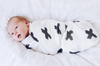 BURROW & BE | CROSS PRINT BABY MUSLIN WRAP
