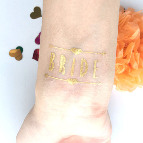 Bride Temporary Gold Tattoo