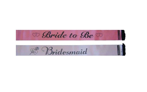 Combo: Bride to Be & Bridesmaid Sash
