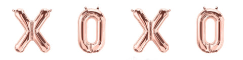 Rose Gold Foil Balloons - XOXO