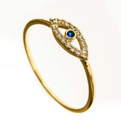 Evil Eye 14k Gold Filled Ring