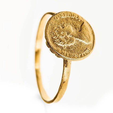 Coin Ring 14k Gold Filled