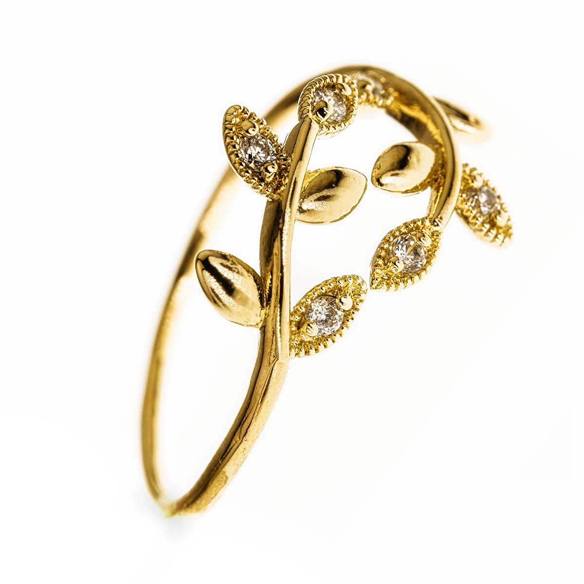 Open Leaf 14k Gold Filled Ring