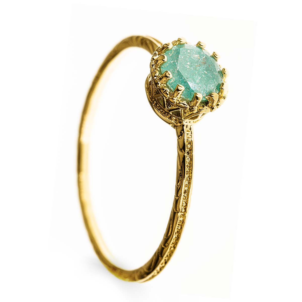 Gold Filled 14k Green Stone Ring