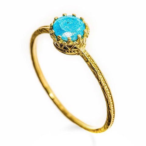 Gold Filled 14k Blue Stone Ring