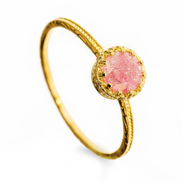 Gold Filled 14k Pink Stone Ring