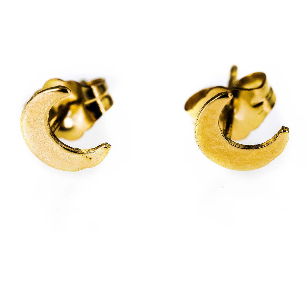 Crescent Moon 14k  Gold Filled Tiny Studs
