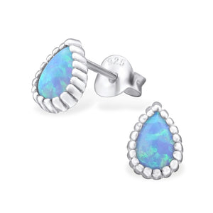 PIPER TEARDROP OPALITE EARRINGS STERLING SILVER - Byou Designs