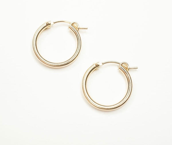 GOLD FILLED 14k GOLD HOOP EARRINGS