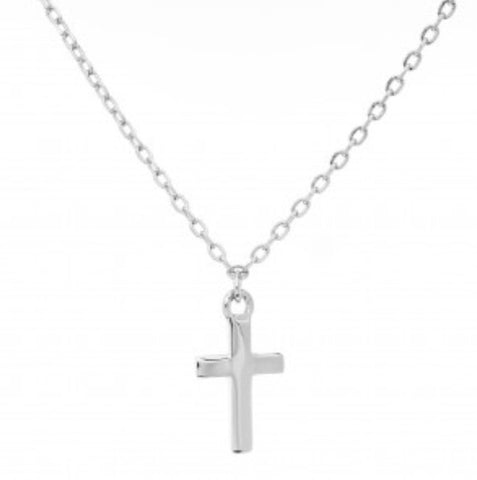 Dainty Cross Necklace in Sterling Silver