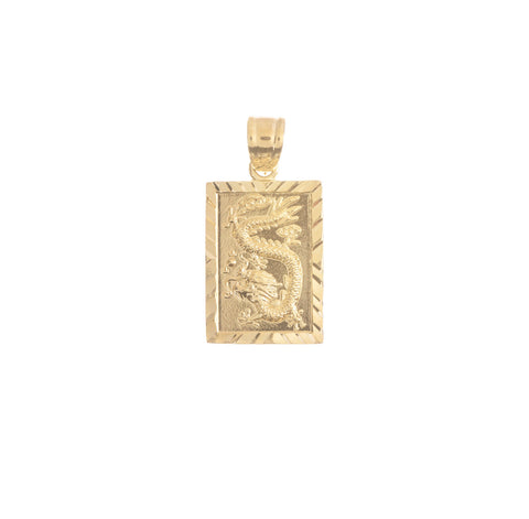 Mystical Dragon Gold Filled Pendant Charm 18k