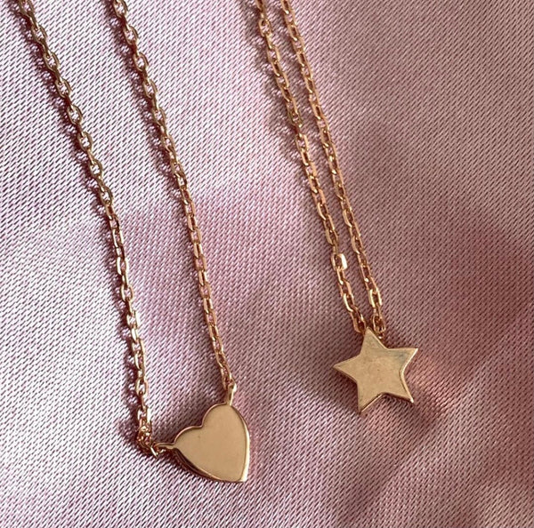Dainty Heart Pendant Necklace in Rose Gold