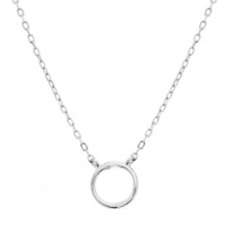 Dainty Circle of Love Necklace Sterling Silver
