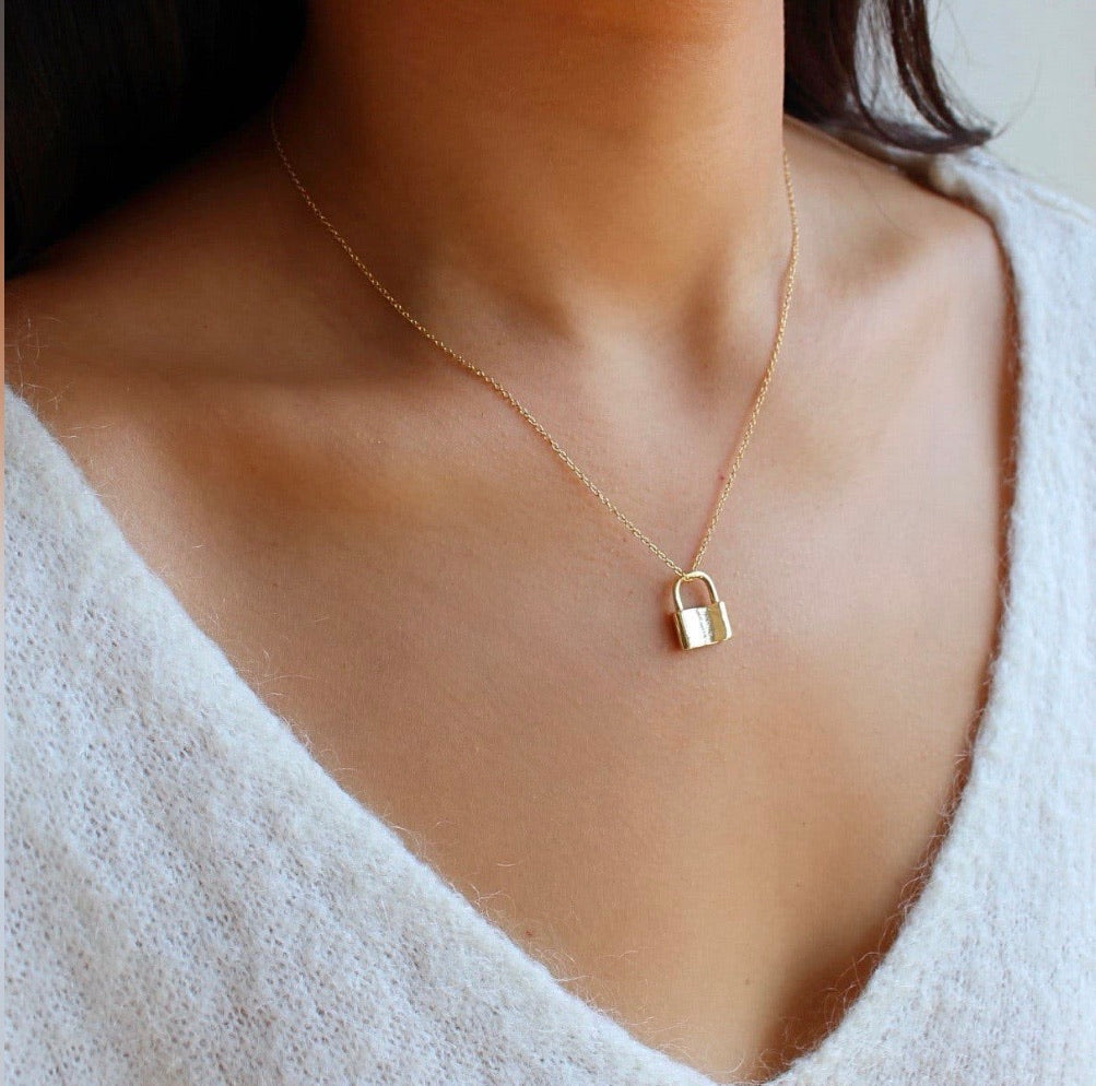 Unlock the Love Pendant Chain Necklace 14k Gold Filled