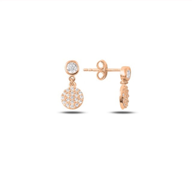LARA DROP EARRINGS IN ROSE GOLD - Byou Designs