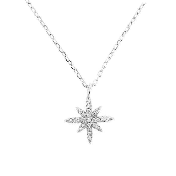 STARS ON NECKLACE IN STERLING SILVER - Byou Designs