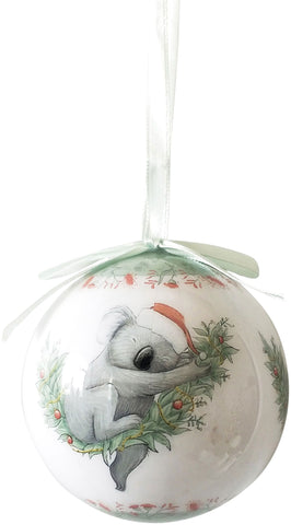 Australian Koala Christmas Bauble Gift Box Hanging Tree Decoration