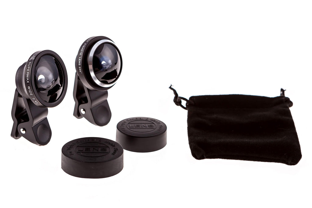 CamRah SuperMax 235 Degree Fisheye and Wide Angle .4x Combo Kit - For iPhone and other Smartphones