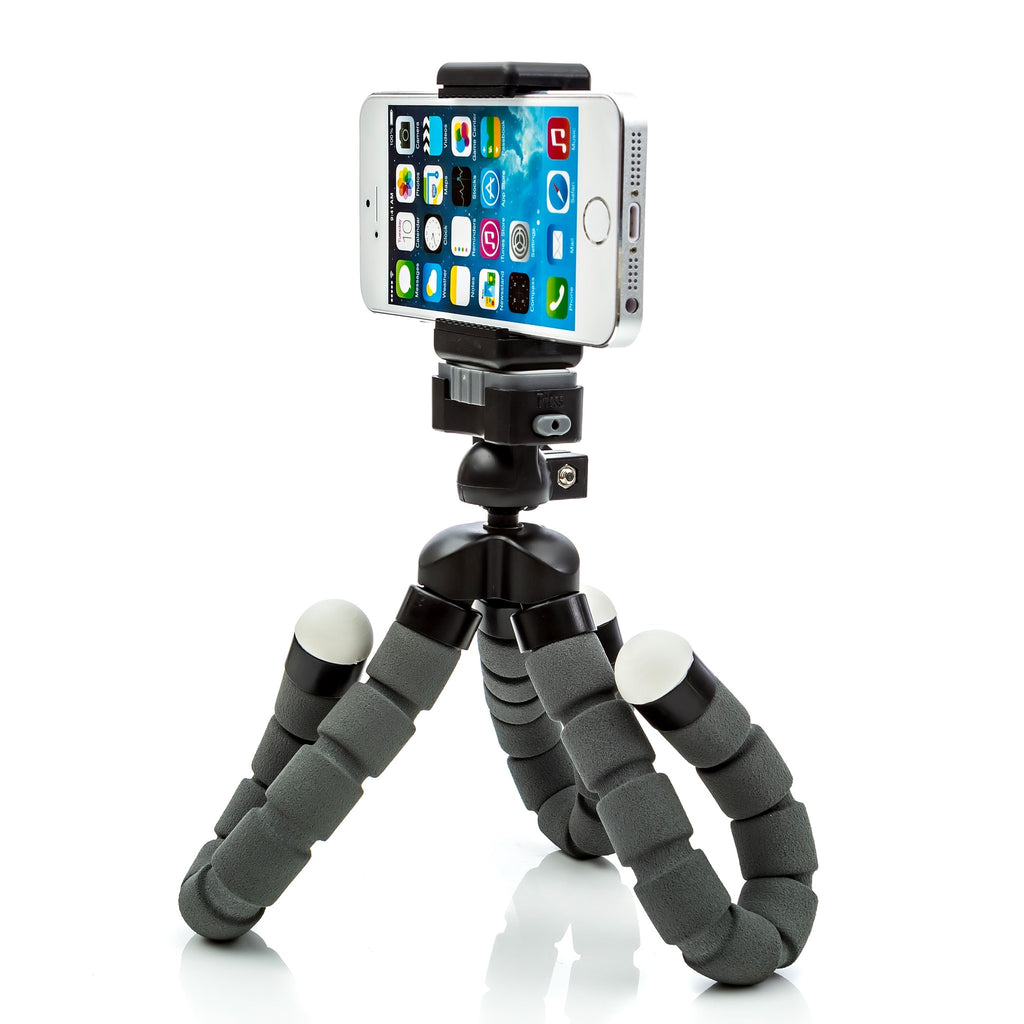 CamRah iPhone Tripod Flexible Pro Series with Bluetooth Shutter Remote and portrait landscape mount