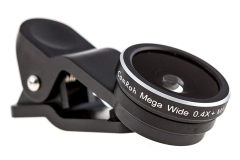 CamRah Mega Wide Angle + Macro iPhone Camera Lens Kit