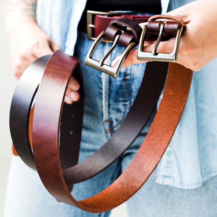 Women's and Men's Leather belts handmade top-quality leather hides
