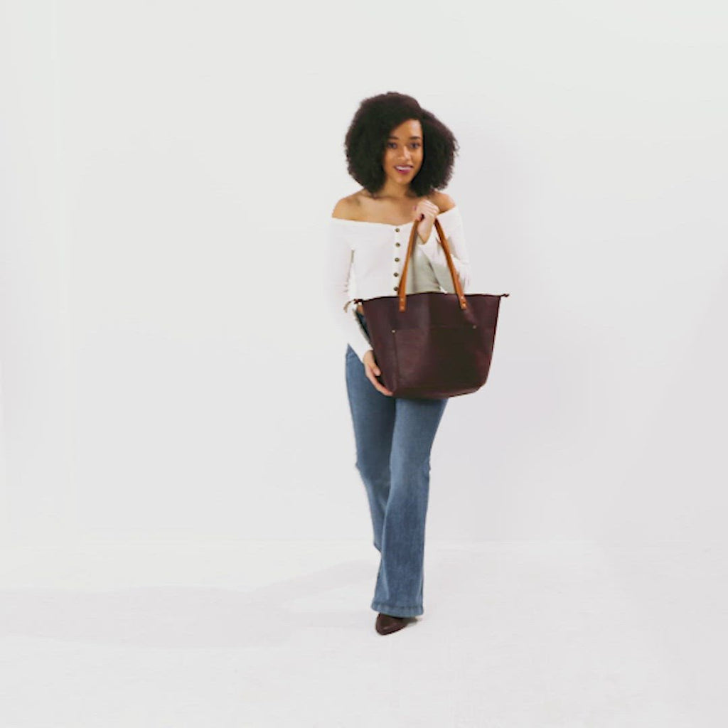 Cognac Tan Small + Cognac Tan Medium + Cognac Tan Large + Cognac Tan Oversized | leather tote bag handmade