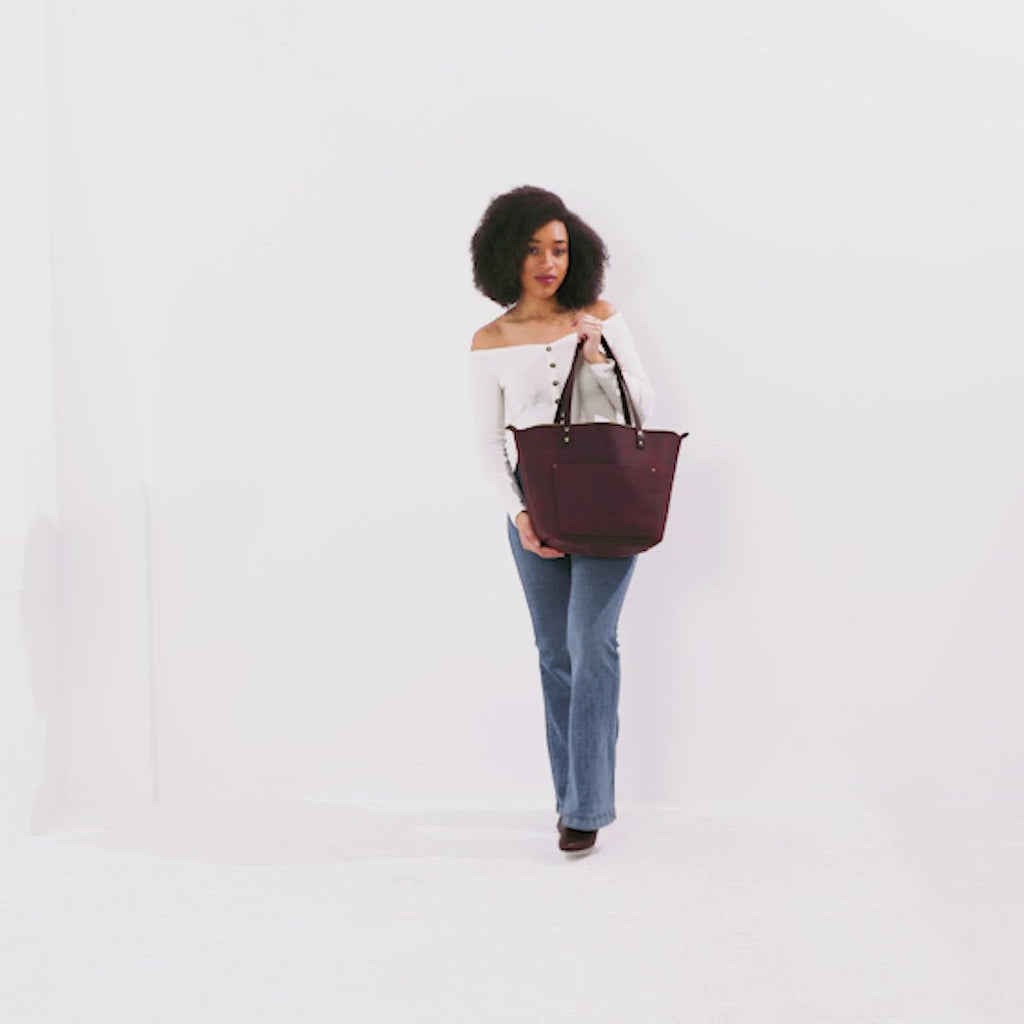 Merlot Dark Brown Small + Merlot Dark Brown Medium + Merlot Dark Brown Large + Merlot Dark Brown Oversized | leather tote bag purse
