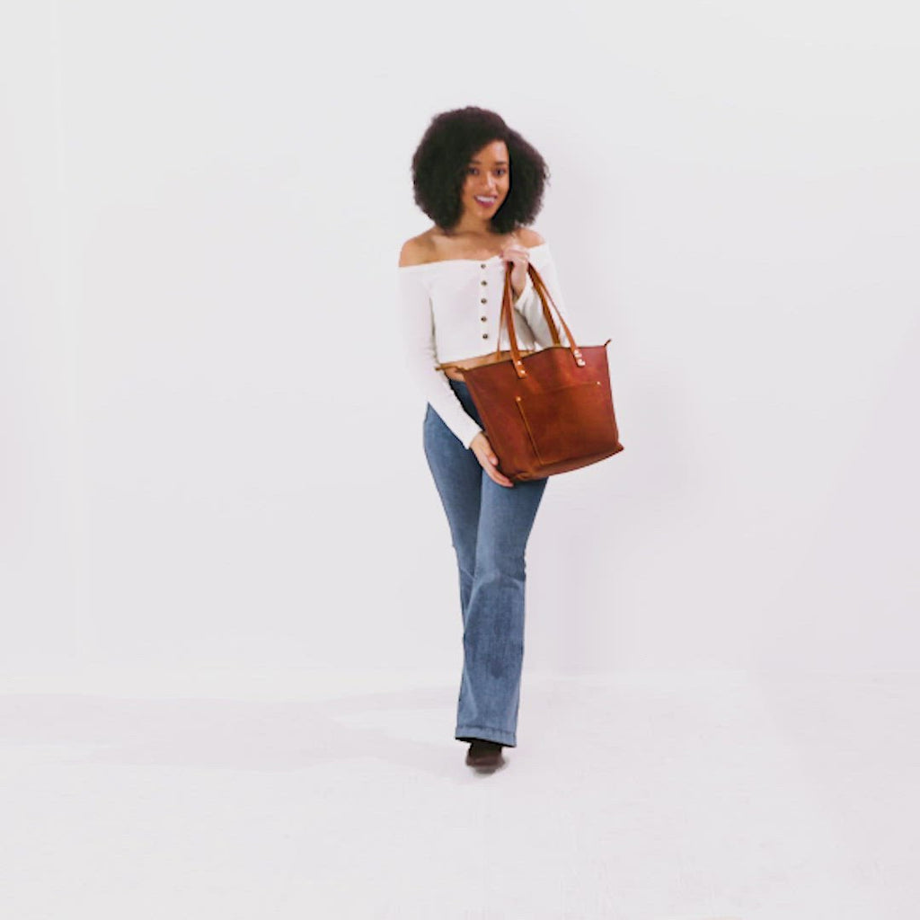 Honey Tan Small + Honey Tan Medium + Honey Tan Large + Honey Tan Oversized | handmade leather tote bag