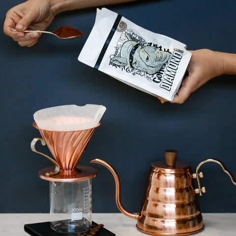 Hario V60 Copper Dripper | Pour over | Grouch & Co - Grouch&Co