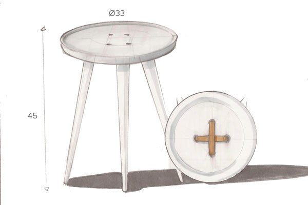 PRESTON Button Side Table by Hawke & Thorn