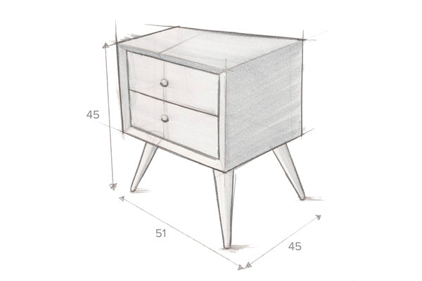 PRESTON Bedside Table by Hawke & Thorn