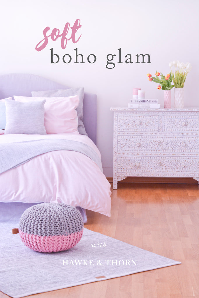 Hawke & Thorn // Soft Boho Glam Interior Styling
