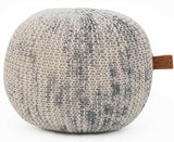HERMAN Marled Grey Pouf
