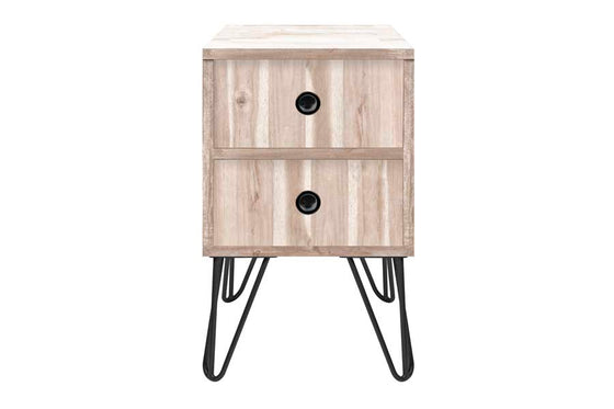 JACKSON // BEDSIDE TABLE // 2 Drawer Oak