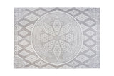 Tufted Cotton Rug - Mandala - Area Rug - Accent Rug - Interior Design - Grey Rug